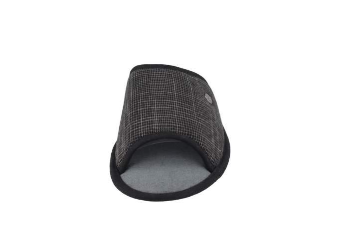 Домашние тапочки мужские de fonseca BARI TOP E PA M722R1 черные 46-47 RU
