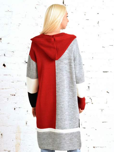 Кардиган женский MILANIKA 1158 красный 60