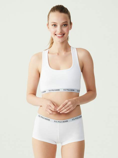 Комплект белья женский U.S. POLO Assn. 65003 белый 36 EU