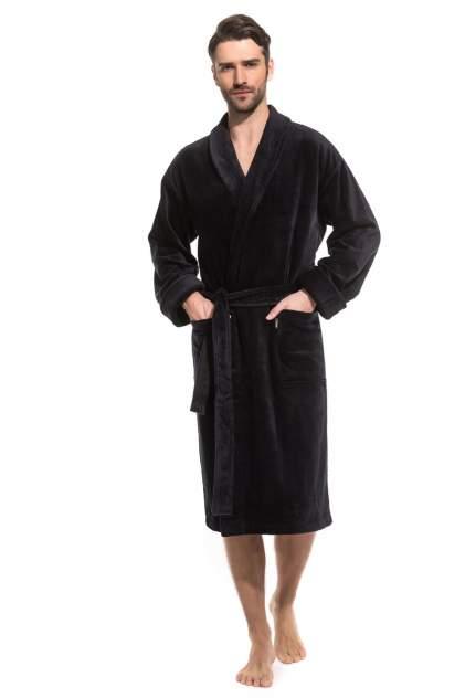 Домашний халат мужской Peche Monnaie PM France 941 черный 2XL (52-54)
