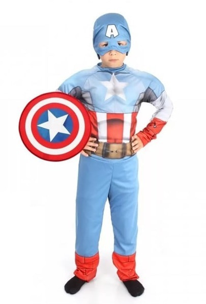 Костюм Батик Капитан Америка Детский 30 (116 см)