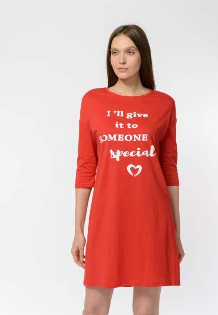 Домашнее платье женское Modis M202U00461R523F04 красное 44