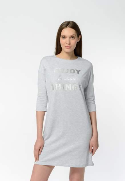 Домашнее платье женское Modis M202U00460I890F04 серое 44