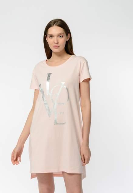 Домашнее платье женское Modis M202U00381R004F05 розовое 46