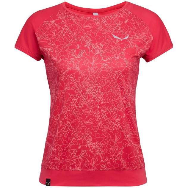 Спортивная футболка Salewa Pedroc Print Dry W S/S Tee, красный