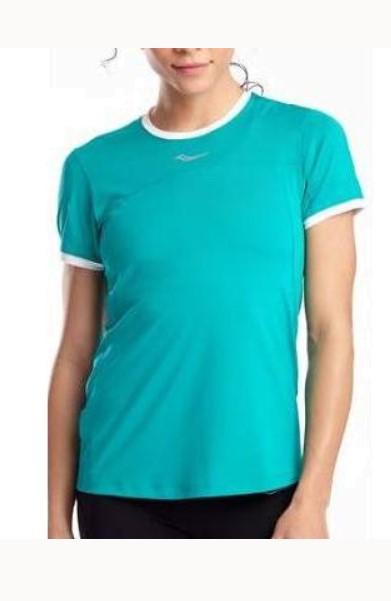 Спортивная футболка Saucony Drafty Short Sleeve, зеленый