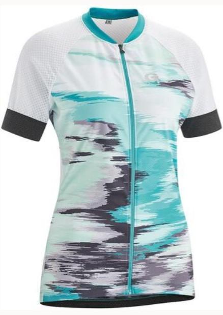 Спортивная футболка Gonso Mezzana Da-Radtrikot-1/2-Fz, белый, голубой