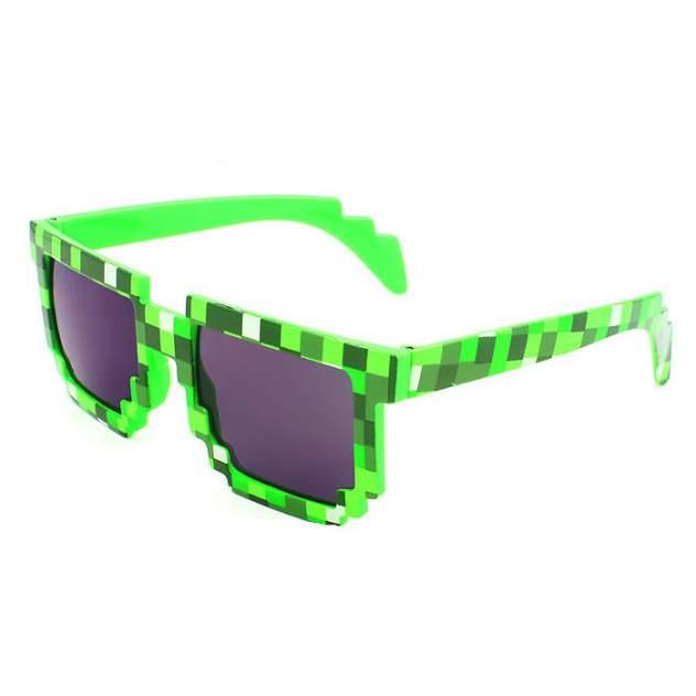 Пиксельные очки детские Майнкрафт (зеленые) 12см