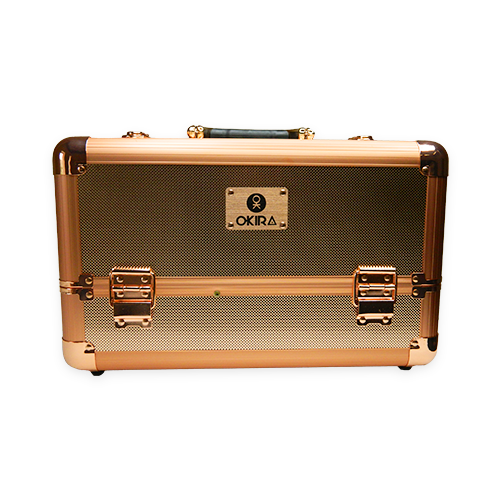 Бьюти кейс для косметики Okira М 034 розовое золото