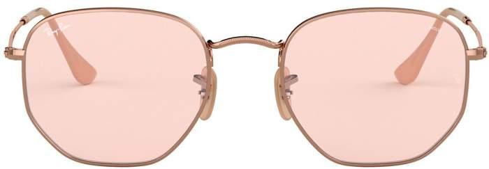 Солнцезащитные очки женские Ray Ban 0RB3548N розовые/коричневые