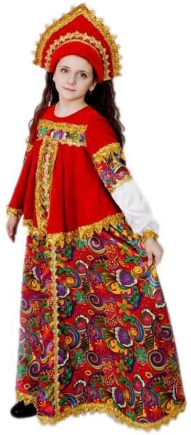 Карнавальный костюм Батик, цв. белый, красный