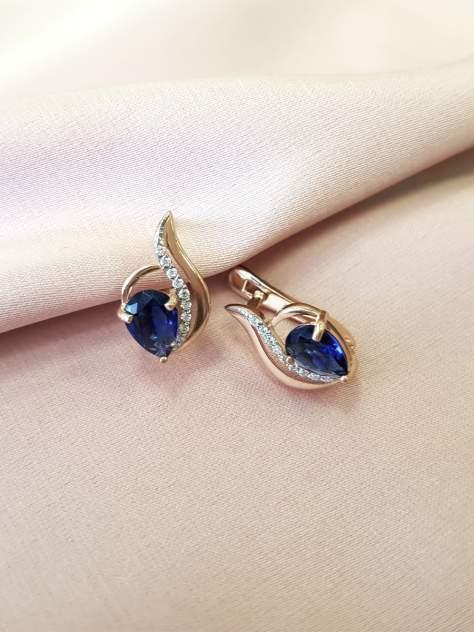 Серьги женские из серебра SamoroDki Jewelry 4-2-369-01з с кварцем