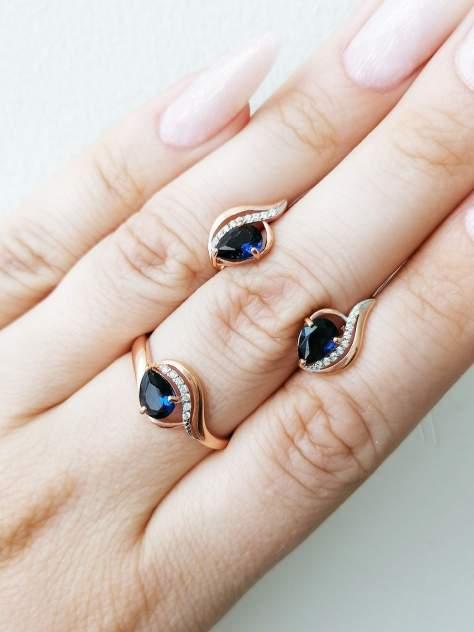 Кольцо женское SamoroDki Jewelry 4-1-369-01з из серебра с кварцем, р.16.5