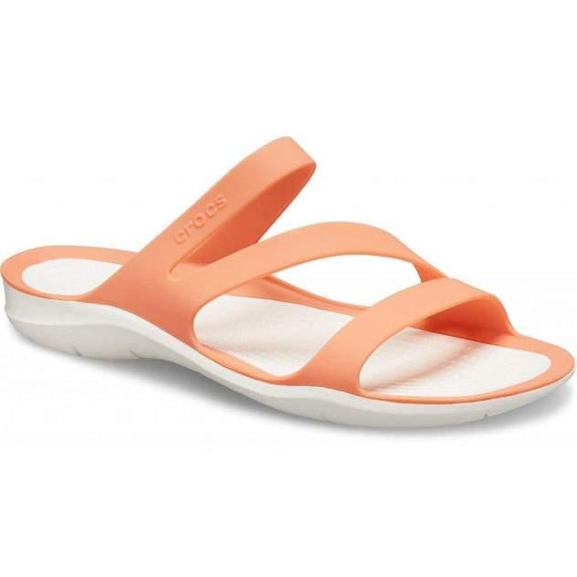 Сланцы Crocs Swiftwater Sandal W Grapefruit/White 38-39