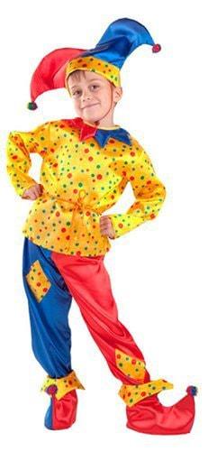 Карнавальный костюм Батик, цв. желтый, красный, синий
