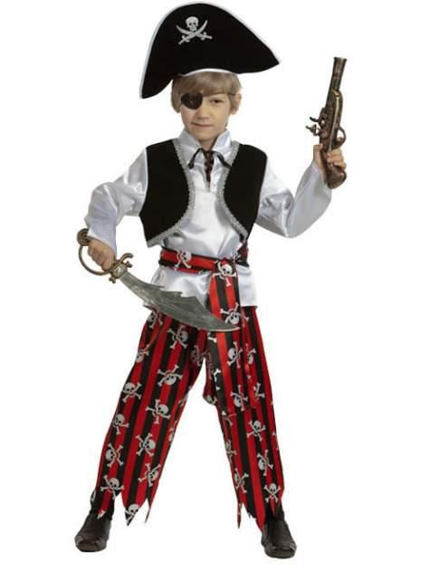 Карнавальный костюм Батик, цв. черный, белый