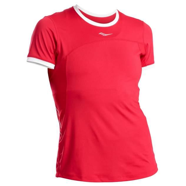 Спортивная футболка Saucony Drafty Short Sleeve, красный