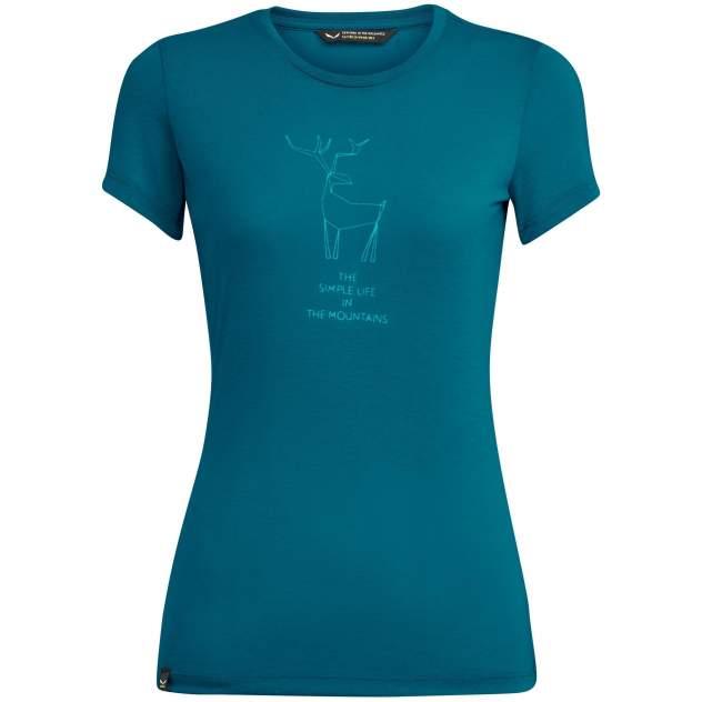Спортивная футболка Salewa Deer Dri-Rel W S/S Tee, синий