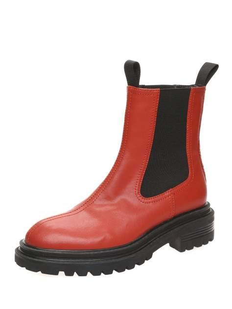 Ботинки женские MAKFINE 51MK-75-01A2, красный