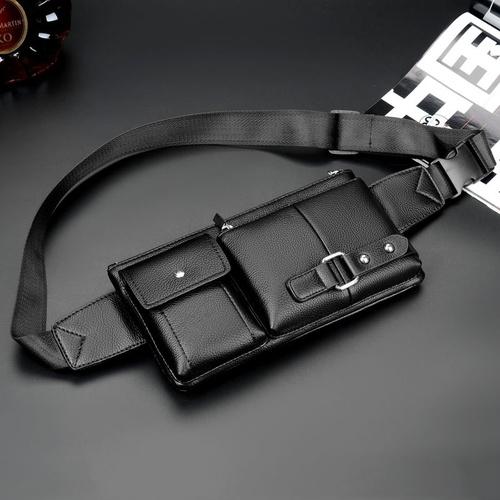 Поясная сумка мужская ForAll Classic черная