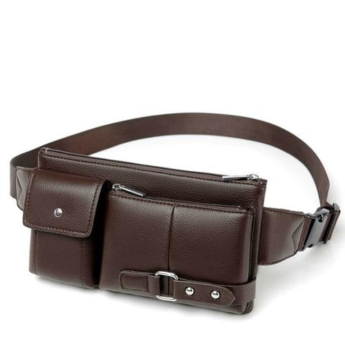 Поясная сумка мужская ForAll Classic коричневая