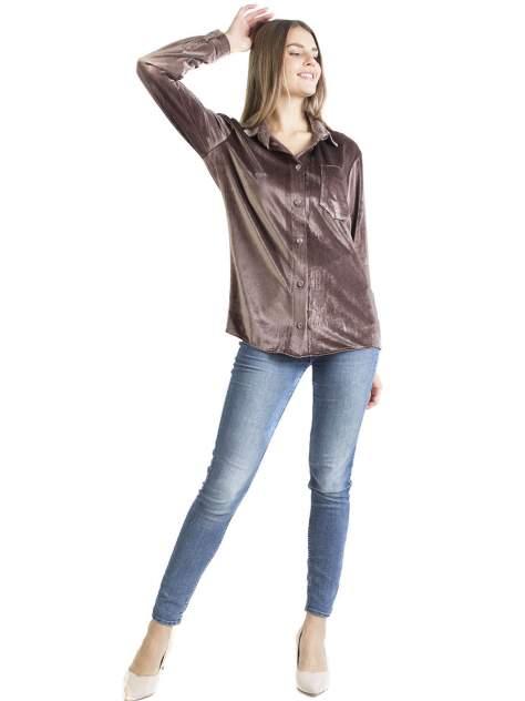 Блуза женская Bast М1150/4 коричневая 50 RU