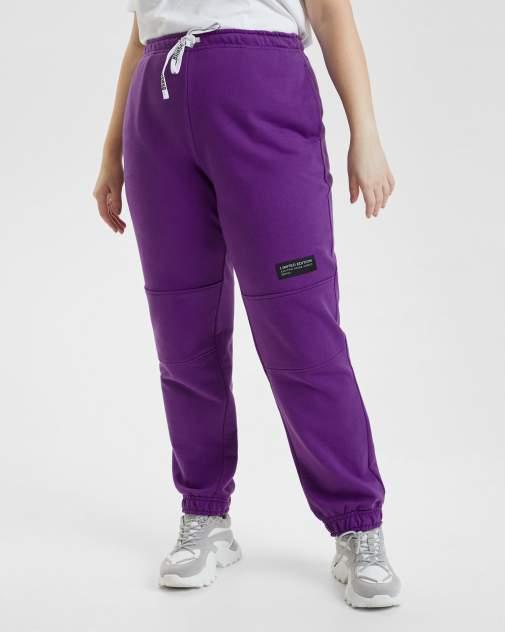 Спортивные брюки женские BARMARISKA БЖ8-Б0442 фиолетовые 56-58