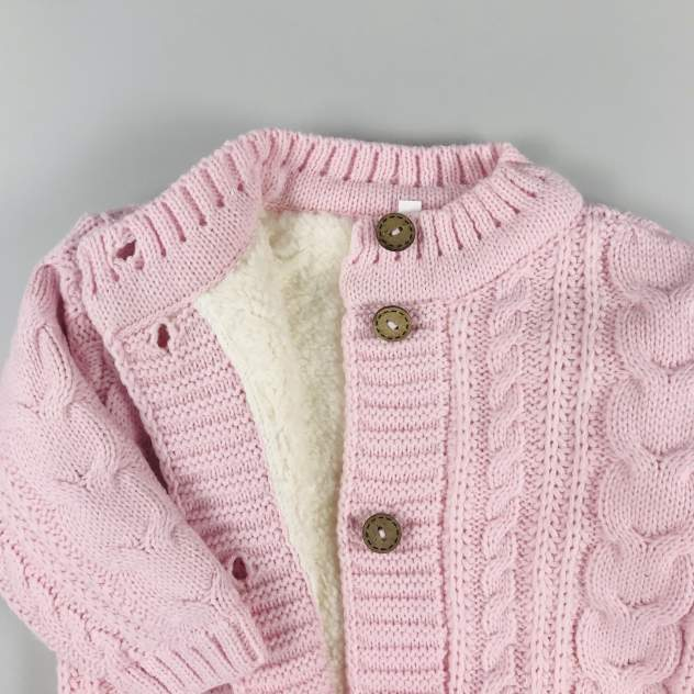 Комбинезон АйШах текстиль вязанный розовый р.74