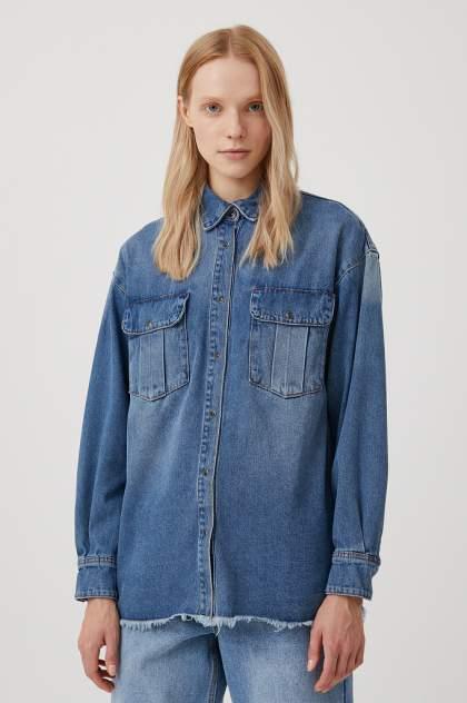 Женская джинсовая рубашка Finn Flare FAB15019, синий