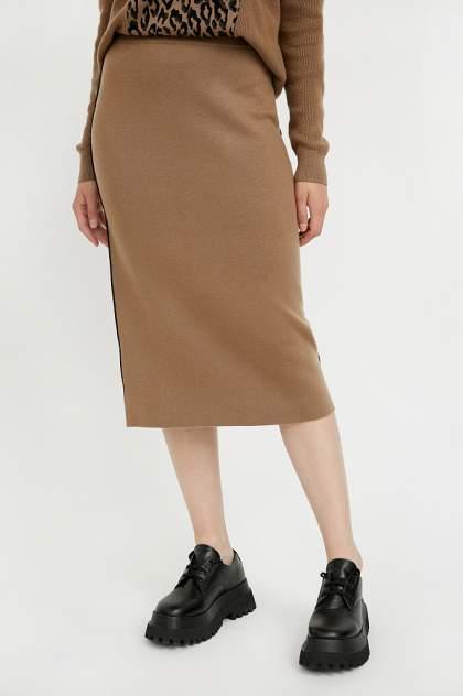 Юбка женская Finn Flare A20-12117 коричневая 2XL