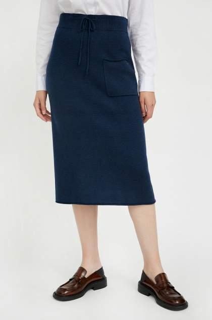 Юбка женская Finn Flare A20-11126 синяя L