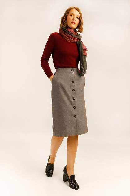 Юбка женская Finn Flare A19-12081 коричневая L
