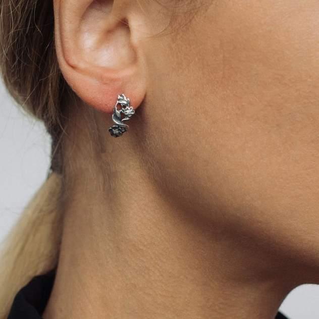 Серьги женские из серебра Miestilo E2300011 фианит
