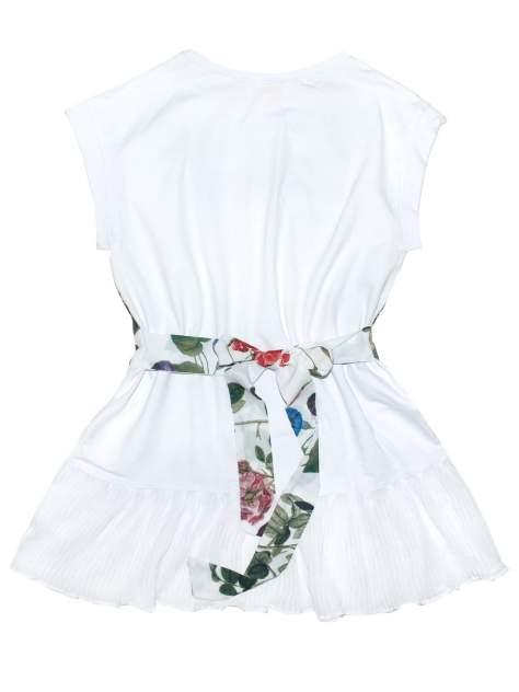 Платье для девочки Bon&Bon /603/32/128/ белый, цветы