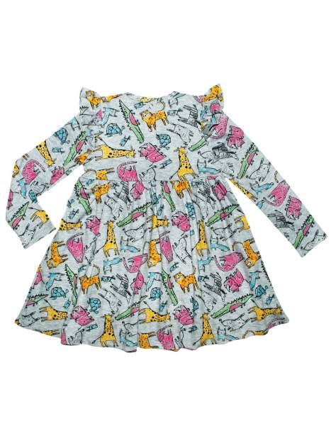 Платье для девочки Bon&Bon /751/30/116 / серый