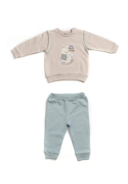 Комплект одежды RBC, цв. бежевый; голубой р.86