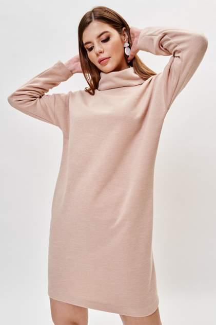 Платье-водолазка женское Vittoria Vicci 1-20-2-3-02-21049 бежевое 46