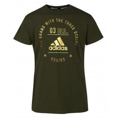 Футболка Adidas ADIDAS Boxing The Brand With The Three Stripes, зеленый
