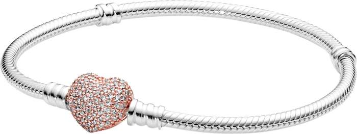Браслет женский Pandora 586292CZ из серебра, р. 18