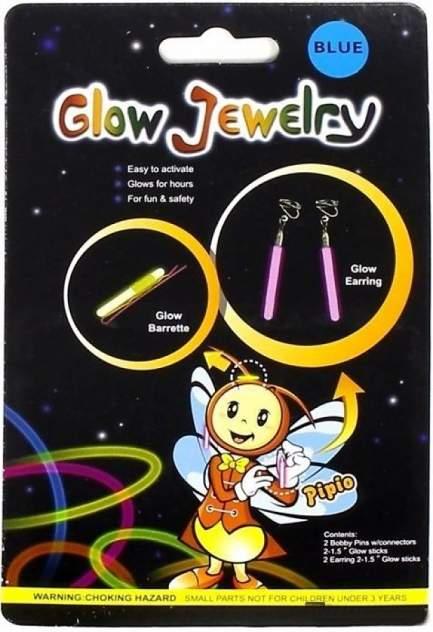 Сережки и заколки детские светящиеся 17x10,7x1см