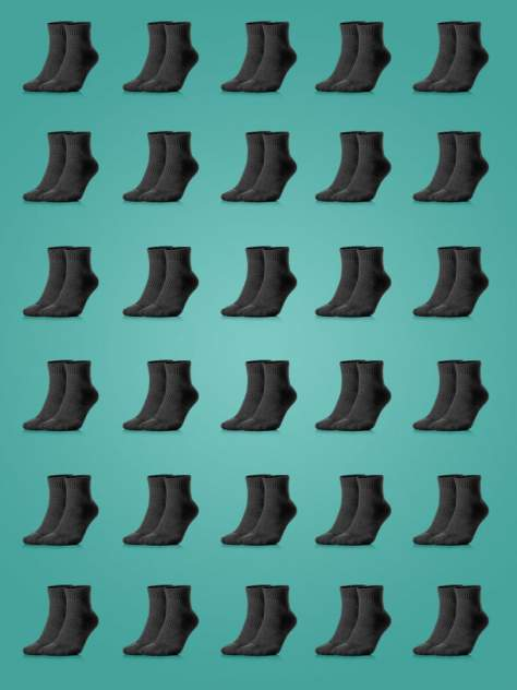 Набор черных носков My Rules 30 пар средней длины размер 41-45