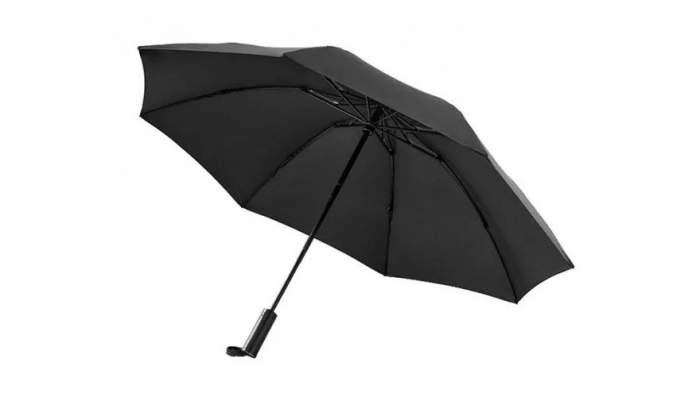 Зонт с фонариком Xiaomi 90 Points Automatic Umbrella With LED Flashlight Black черный