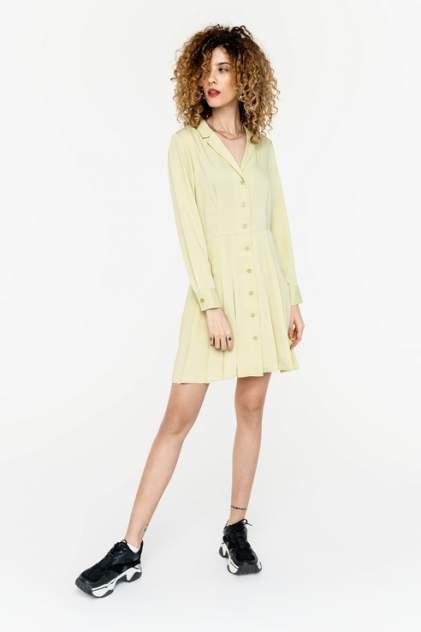 Платье-рубашка женское befree 2021146523 желтое 44