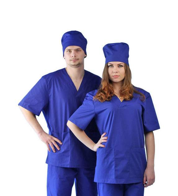 Костюм медицинский унисекс Ursus ЯЛ-02-13 синий 44-46