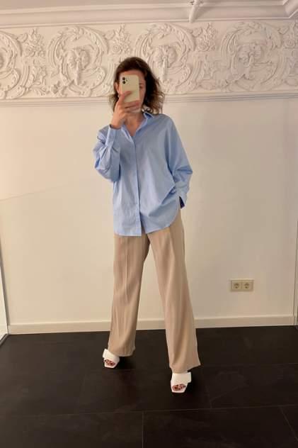 Женская рубашка SILVION Sl_W1283, голубой