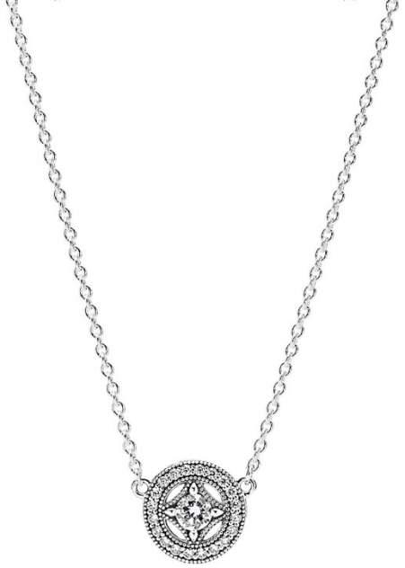Колье женское Pandora 590523CZ из серебра, цирконий, 45 см