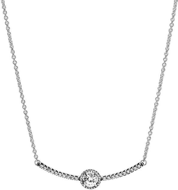 Колье женское Pandora 398490C01 из серебра, цирконий, 45 см
