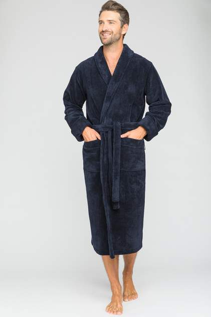 Домашний халат мужской Peche Monnaie Naturel (PM 908) синий размер XXXL