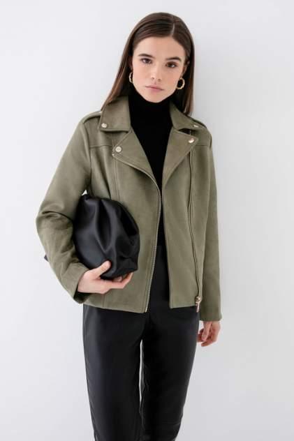 Кожаная куртка женская ZARINA 1123453133 хаки 42
