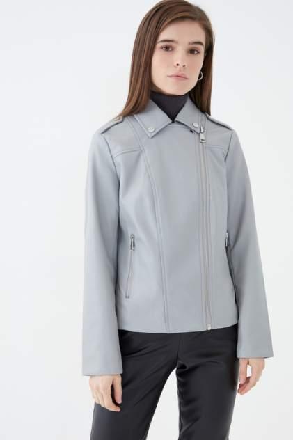 Кожаная куртка женская ZARINA 1123452132 серая 46